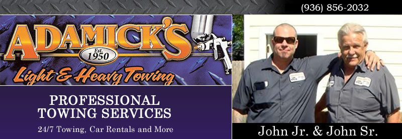 Johnny Adamick Towing, auto parts, rental cars