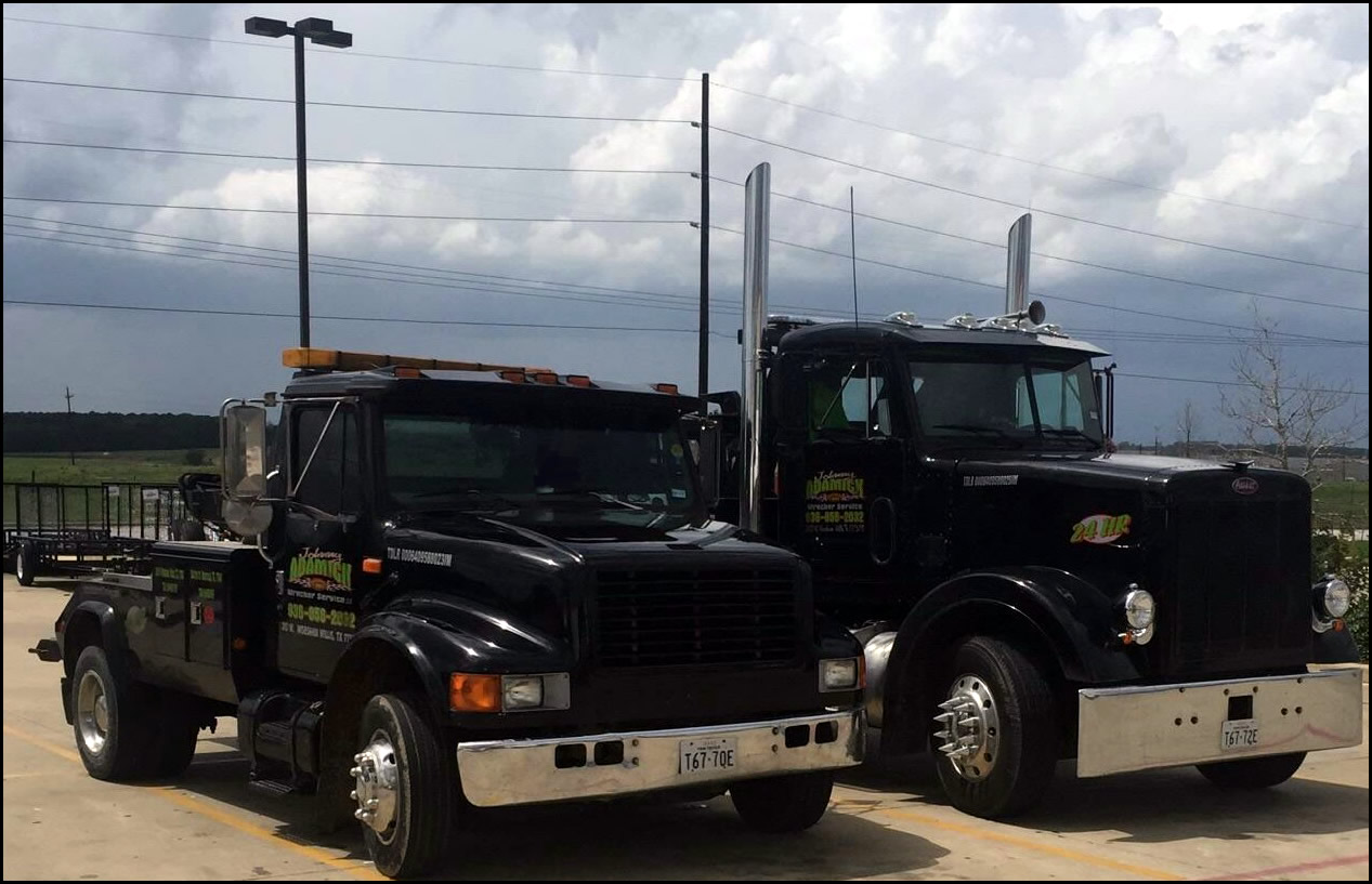 johnny adamick wrecker service auto towing services willis texas
